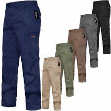 Pantaloni Uomo Cargo Combat Vita Elasticizzata Pantaloni Lavoro Tasca Lungo Bottoms m3xl