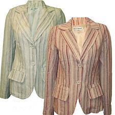 Ladies Jacket Blazer Tunic Miss Posh Womens Striped New
