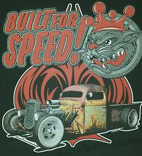 T-shirt #694 built for Speed, v8 Hot Rod OLD SCHOOL CUSTOM MuscleCar US Car