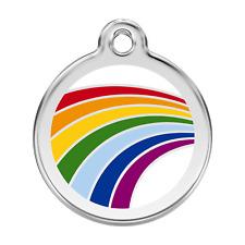 Médaille gravé inox émaillée - Arc-en ciel - RED DINGO