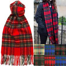 Womens 100% CASHMERE Made In SCOTLAND Royal Stewart Check Plaid Tartan Scarf