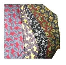 Foulard uomo di seta stampata disegni cashmere ascot cashecol made italy silk