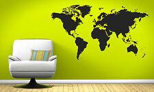 World Map wall art, large vinyl atlas sticker