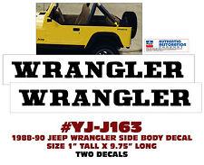QJ-J163 AMC JEEP - 1988-90 WRANGLER BODY NAME DECAL SET - LICENSED
