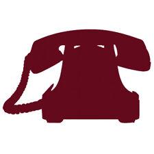 Sticker Téléphone ancien Vintage 10x16 cm à 30x47 cm, (TEL001)