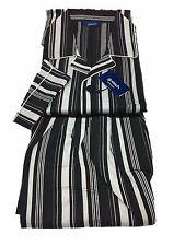 GUASCH pigiama uomo con bottoni righe nero/bianco 100% cotone