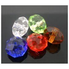 50 perles cristal faccettes 10 mm couleurs mixées PF09