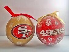 San Francisco 49ers NFL LED Light Up Christmas Tree Bauble Ball Ornament