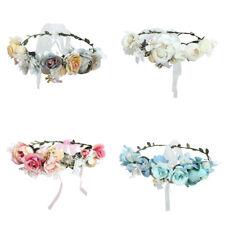 Damen Boho Haarband Blumen Kranz Blüten Geflochten Stirnband Party Hochzeit