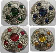 Keltisch Broschen Verschiedene Stones Antike Ausführung/Sash Brosche/