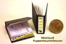 2301# Aktenordner mit Inhalt ohne Text - Puppenhaus - Puppenstube - M 1zu12