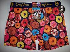 Crazy Boxer Underwear Mens Boxer Briefs 1 Pr Foodie Graphic Select Sz NWT