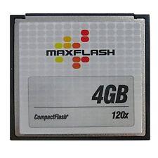Tarjeta de memoria Maxflash 4 gb CF Compact Flash 120x velocidad alta velocidad