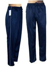 Glänzende Sporthose, Jogginghose, Trainingshose Freizeithose in Marineblau QTT7B