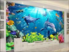 Rich Vibrant Underwater 3D Full Wall Mural Photo Wallpaper Printing Home Kids De