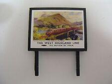The West Highland Line BR - Model Railway Billboard - N & OO Gauge