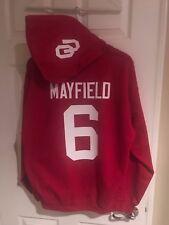 Oklahoma Sooners Baker Mayfield Jersey Style Hoodie Hoody Sweatshirt