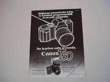 advertising Pubblicità 1983 CANON T50