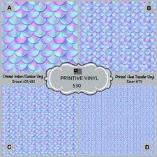 Mermaid tail scales Pattern Printed Siser HTV, Oracal Adhesive Vinyl-  530