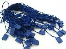 BLU Scuro stringa Tag lock fastener etichettatura tagging forniture QUADRATO tag finale APPENDI