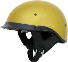 AFX FX-200 GOLD METALFLAKE DUAL INNER LENS Half Helmet DOT FREE SHIPPING