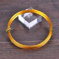 1Roll Gold 18/15/12gauge 1.0/1.5/2.0mm Soft Aluminium Craft Wire Metal Cord