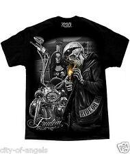 Freedom Prison Tower Ride Or Die David Gonzales Art DGA Biker Outlaw T Shirt