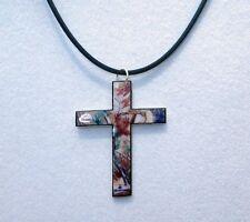 mossy oak breakup true timber real tree ap camo cross necklace choker pendant