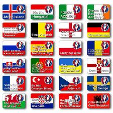 EURO 2016 FRANCE FOOTBALL FAN FRIDGE MAGNET SOUVENIRS MASCOT CHOOSE YOU TEAM