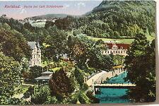 13768 AK Karlsbad Partei am Cafe Schönbrunn Color um 1920