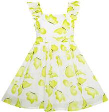Sunny Fashion Robe Fille Mignon Papillon Flutter Manche Partie Robe D'été