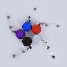 2pcs Retractable Reel Recoil Badge Lanyard Name Tag Key Card Holder Belt Clip UK