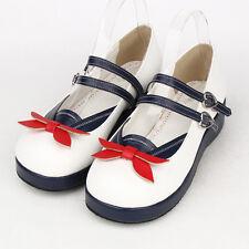 Sweet Lolita Schuhe Ballerina sailor uniform Schulmädchen schoolgirl Cosplay Neu