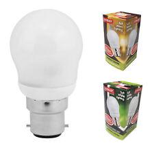 7w=25w 40w Energy Saving Light Bulb Golf Ball Mini Globe Lamp BC B22 Bayonet Cap