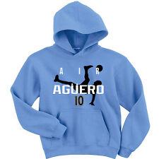 "Sergio Aguero Manchester City ""Air Aguero"" jersey Hooded SWEATSHIRT HOODIE"