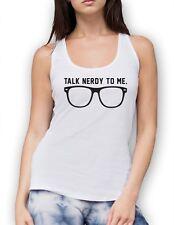 Talk Nerdy To Me Vest Tank - Funny Glasses Nerd Geekery