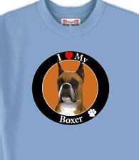 Dog T Shirt - I Love My Boxer - Men Women Adopt Rescue Animal Cat Pet Friend # 4