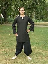 Casual Renaissance Shirt Pirate Black Color Medieval Unisex Caribbean Costume