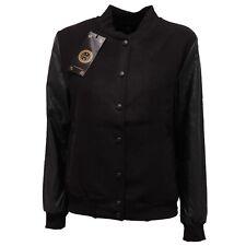 1877Q giubbotto MINIMAL nero bomber donna jacket woman