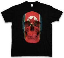 Classic North Korea skull Flag t-shirt tete de mort crâne Bannière Drapeau Corée du Nord