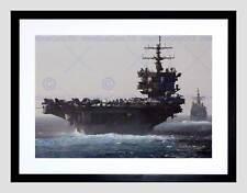 GUERRA Navy Corazzata PORTAEREI USS ENTERPRISE JET mare ART PRINT b12x4881