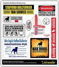 Auto Aufkleber Sticker ENGLISH STAFFORD BULLTERRIER COLLECTION Sammlu SIVIWONDER