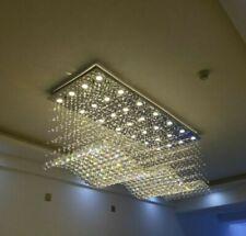 Luxury Modern Luxury LED Rectangle Clear Crystal Lighting Chandelier Lamp #905