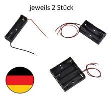 jeweils 2x Batteriehalter für 1, 2, 4 Mignon AA Batterie mit Kabel Battery Box