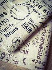 Testo Raw Fagioli Naturale Lino Tessuto di Cotone. prezzo per 1/2 Metro