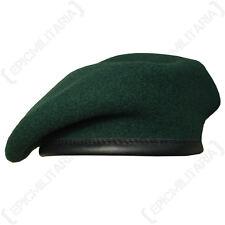 100% Lana Británico Boina - Todos Los Tamaños - Ejército RIFLES Verde Alta