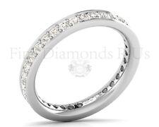 1.00 carati con diamanti taglio brillante rotondo pieno eternità anello nuziale in platino