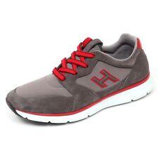 D0052 sneaker uomo HOGAN H254 T2015 scarpa H flock grigio shoe man