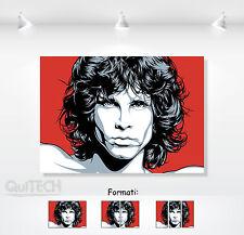 Jim Morrison - 10 - Quadro stampa su Tela Pelle Canvas Dipinto Arte Moderna