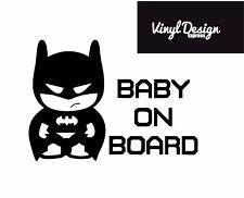 Batman baby on board car window vinyl sticker